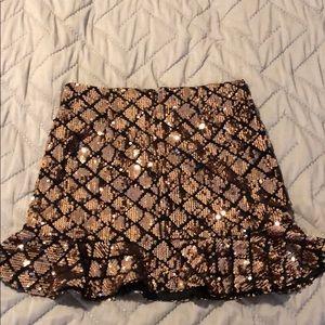 Cute sparkly mini skirt